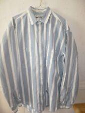 Men's Vintage Western Levi Strauss long sl. blue//white/ striped shirt Large