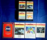 Atari 2600 Game Cartridge Lot Of 8 All Imagic Dragonfire Trick Shot Demon Attack