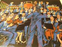 """""""Concert in Blue """" by James Talmadge hand-signed certified Serigraph"""