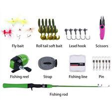 Mini Fishing Complete Kit Set Kids Children Toys Telescopic Rod Reel Line Combo