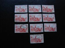 MAROC - timbre yvert et tellier n° 262A x10 obl (A29) stamp morocco (U)