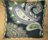 BOHO HIPPIE LARGE PAISLEY APPLIQUES EMBROIDERED THROW PILLOW COVER PIER 1