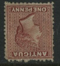 Antigua 1873 1d lake unused no gum INVERTED Watermark!