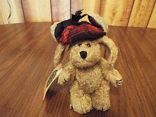 """Boyds Bears Plush Dog Indy w/ Hat 6"""" w/ tags (B3)"""