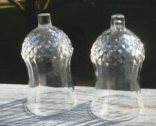 """Set Of 2 Homco Votive Clear Glass Candle Holders 5 1/4"""" Oa Height"""