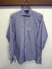 vtg Ralph Lauren Purple Label Dress Shirt french cuff striped cotton 15.5-34 USA