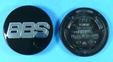 BBS jantes couvercle emblèmes Noir/Chrome 70,6mm 09.24.258