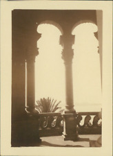 France, San Salvadour (Hyères, Var), Dans la Tour  Vintage silver print. Côte d&