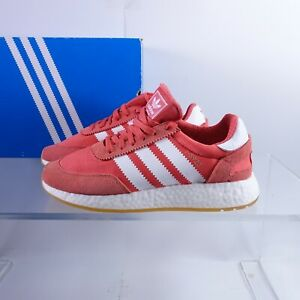 Size 9 Women's adidas Originals I-5923 Iniki Sneakers BB6864 Orange/White/Red