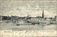 Düsseldorf Rhein Schiffe Panorama 1904 mit Stempel Obercassel gelaufen frankiert