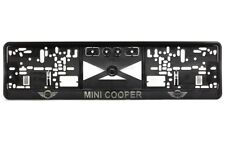 Mini Cooper 2xECHTE 3D-Effekt Kennzeichenhalter, Nummernschildhalter