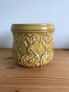 Vintage Ceramic Plant Pot Holder, jardiniere, art nouveau style planter
