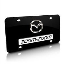 Mazda Zoom-Zoom 3D Logo Black Metal License Plate