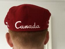 ROOTS ATHLETIC, RED FLEECE CANADA MAPLE LEAF BERET, HAT. SIZE M.