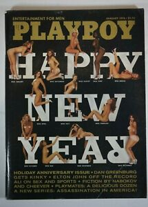 January 1976 Playboy Magazine Vintage Elton John Muhammad Ali Centerfold Intact