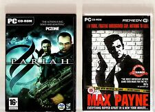 PARIAH & MAX PAYNE. 2 GREAT SHOOTER/ACTION GAMES FOR THE PC!!