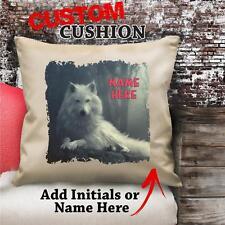 Personalizzato Bianco Wolf Vintage Cuscino Tela Copertura Regalo NC205