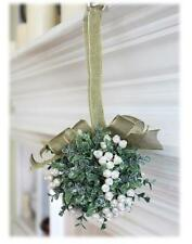 "Ganz 5"" Mistletoe Door Decor Kyrstal Kiss Ball Ornament, White (KK68)"
