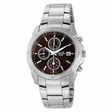 Pulsar Men's PF8335 Chronograph Brown Dial Silver Tone Date Watch $135