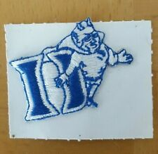 "1980'S DUKE BLUE DEVILS NCAA COLLEGE VINTAGE 1 1/4"" MASCOT LOGO TEAM PATCH"