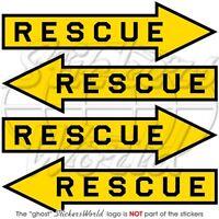 Rescue-Sauvetage Armée de l'Air Aéronef Flèche USAF RAF 50mm 4Vinyle Autocollant
