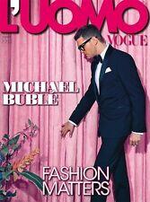 L'uomo Vogue Magazine February 2014,Michael Buble NEW