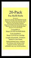 20-pk UX-3CR Fax Refill Rolls for Sharp UX-330L UX-335L UX-340 UX-340L UX-340LM