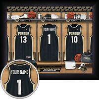 NCAA Personalized Basketball 11x14 FRAMED Locker Room Print 8 TEAMS - NEW