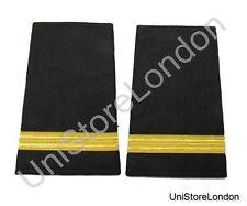 Epaulet Pilot Epaulette Sliders 1 Gold Bar  Black Cloth R1324