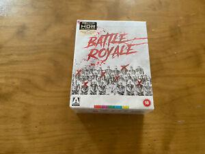 Battle Royale 4K Ultra HD/Blu ray*Arrow Video*Region B PAL*Limited Ed*5 Disc*NEW