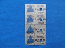 Vintage $1.50 Waukegan Drive-In Theatre Tickets (Strip of 4) Movie/Cinema