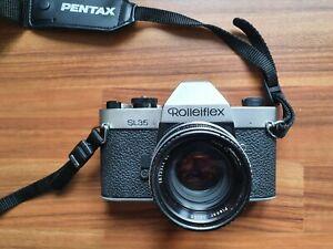 Rolleiflex SL35 camera black with 50mm f/1.8 Planar
