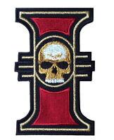 Imperial Inquisition Skull Warhammer 40K Game VELCRO® BRAND Hook Fastener Patch
