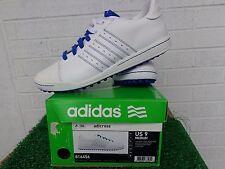 Adidas Golf Adicross White and Blue Spikeless  Golf Shoes US Size 9 Medium NEW