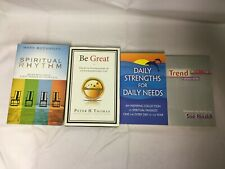 4x Self Help Books Be Great Spiritual Rhythm Daily Strengths for Daily Needs