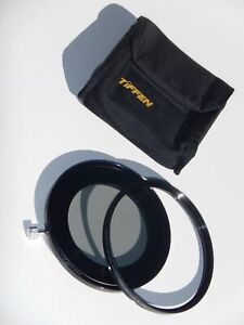 """TiFFEN 83SSLR 4-1/2"""" Adapter + Retaining Ring w/ 412ND3 ND 0.3 Filter plus Pouch"""