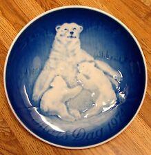 Vintage Copenhagen Porcelain Plate - Mother'S Day 1974, Polar Bear
