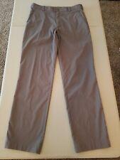 Men's Nike Golf Dri Fit Flat Front Pants Size 32W X 32L Gray Striped