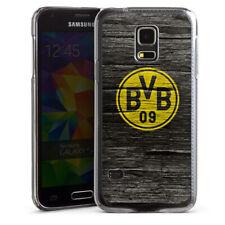Samsung Galaxy S5 mini Handyhülle Case Hülle - BVB Holzoptik