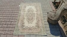 Oushak Rug 3'9x6'6 feet,Anatolian, Turkish kilim, Area, Small, Vintage hand made