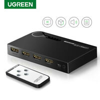 Ugreen 3 Ports HDMI Switcher Hub Splitter 4K IR Remote for Xbox PS4 PS3 Apple TV