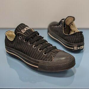 Rare CONVERSE Mens 6 Womens 8 Chuck Taylor All Star Black Pinstripe Low Top Shoe