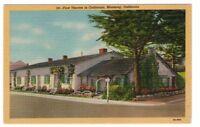 Undated Unused Postcard First Theater in California Monterey California CA
