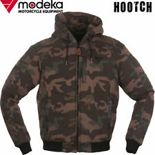 MODEKA Hoodie HOOTCH Motorradjacke camouflage Lederpaspeln Kapuze Protektoren