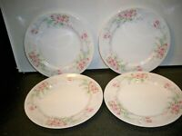 4 MIKASA FINE CHINA ''FERN ROSE L2005 DINNER PLATES  10 3/8 ''