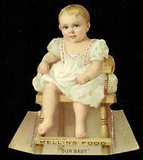 """1890s """"Our Baby"""" Mellin's Food Advertising standup die-cut card"""
