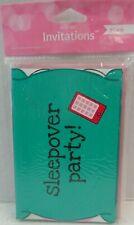 Pop Up! Pink Zebra Boutique Sleepover Party Invitations 8cards/ 8envelopes