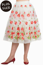 Calf Length Cotton Floral Flippy, Full Skirts for Women