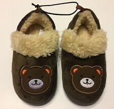 Slippers Shoes S 5-6 Brown Toddler Boys