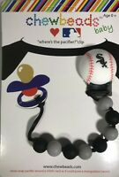 Chewbeads Baby Pacifier Clip Silicone Safe NY Mets MLB Baseball NEW